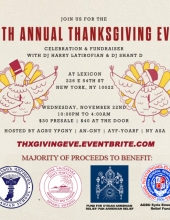 13th Annual Armenian Thanksgiving Eve Party/Fundraiser