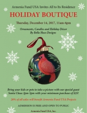 Holiday Boutique From Armenia Fund USA