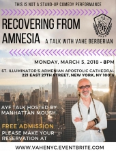 A Talk with Vahe Berberian - Recovering From Amnesia