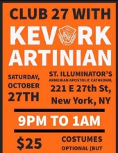 Club 27 with Kevork Artinian Presented by NJ & Manhattan AYF