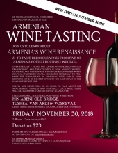 New Date: Armenian Wine Tasting