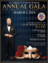 St. Sarkis Saturday School Gala Fundraiser Poon Paregentan Masquerade Ball