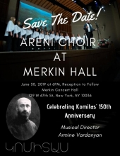 Celebrating Komitas' 150th Anniversary with Areni Choir