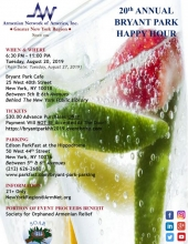 20th Annual Armenian Network Gny Bryant Park Happy Hour