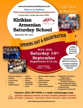"Kirikian Armenian ""Saturday"" School Opening Day Sept. 14"