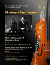 St. Thomas Cultural Committee Special Concert Celebrating Armenia's Independence
