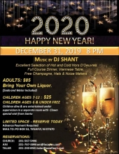 New Year's Eve Celebration at St.Thomas