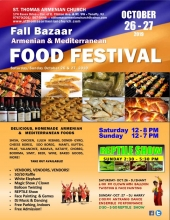 Food Festival and Bazaat at St. Thomas Armenian Church