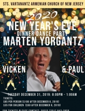 Marten Yorgantz New Year's Eve Celebration Dinner Dance at Sts. Vartanantz