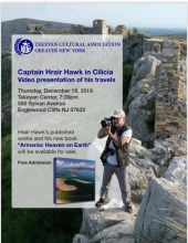 Captain Hrair Hawk in Cilicia: Video Presentation of His Travels