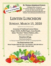 Lenten Luncheon at St. Thomas Armenian Church