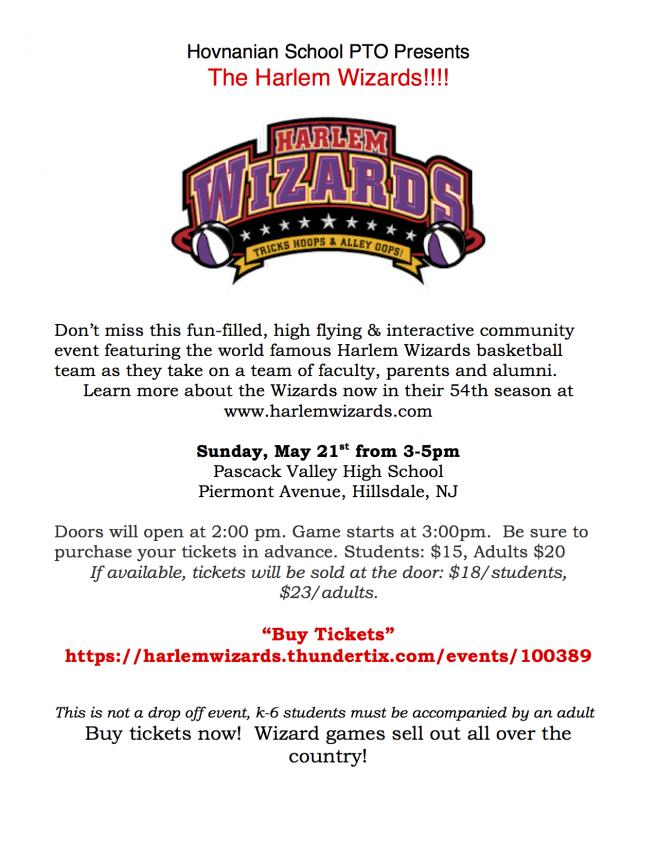 "Hovnanian School PTO presents ""The Harlem Wizards"""