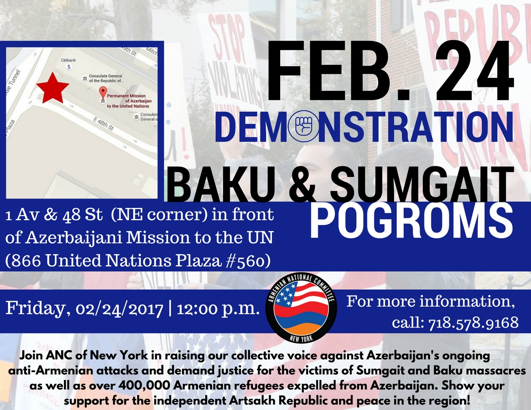 Demonstration: Justice for Baku-Sumgait Massacres