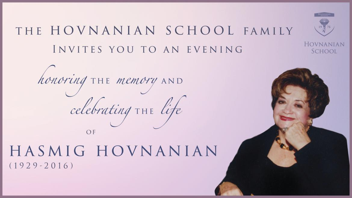 Lenten Dinner Celebrating the Life of Hasmig Hovnanian