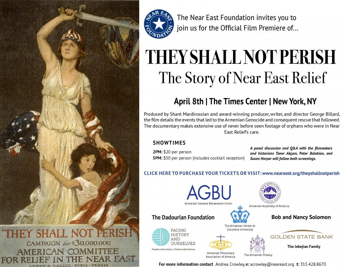 Film premiere of They Shall Not Perish: The Story of Near East Relief