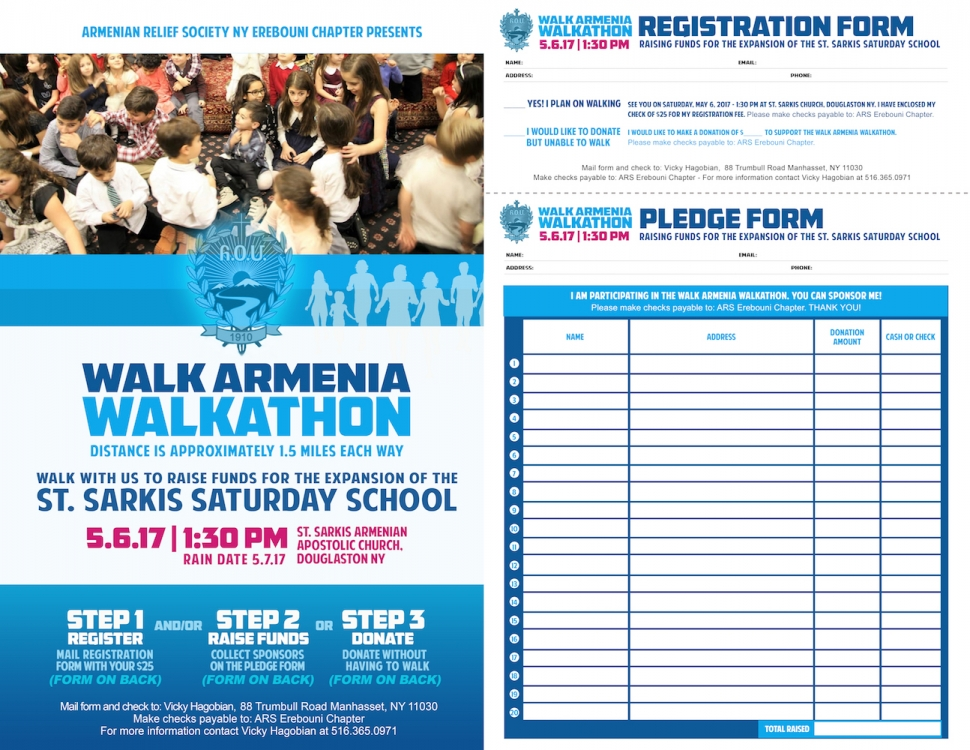 ARS NY Erebouni Chapter Walk Armenia Walkathon