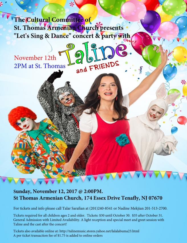 """Let's Sing & Dance"" Concert & Party with Taline & Friends!"