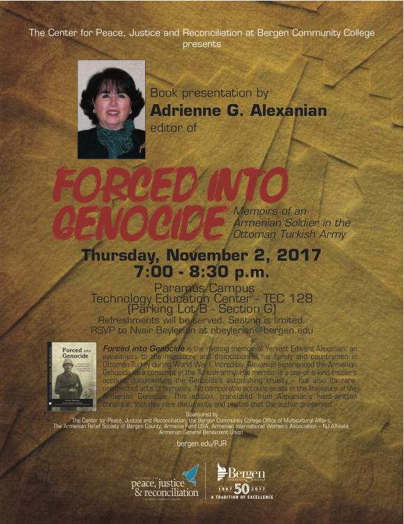 """Forced into Genocide"" A Book Presentation by Adrienne G. Alexanian"