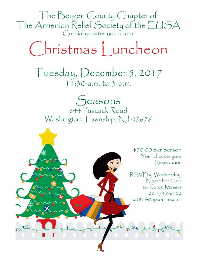 Christmas luncheon sponsored by bergen county armenian relief christmas luncheon sponsored by bergen county armenian relief society of eusa m4hsunfo