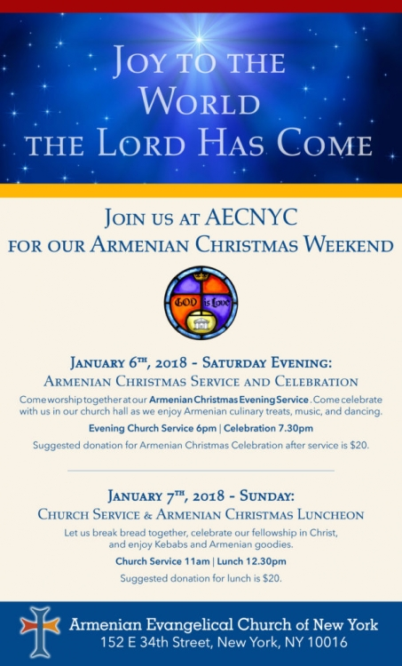 come and be part of our armenian christmas weekend on jan 6 7th 2018 - When Is Armenian Christmas
