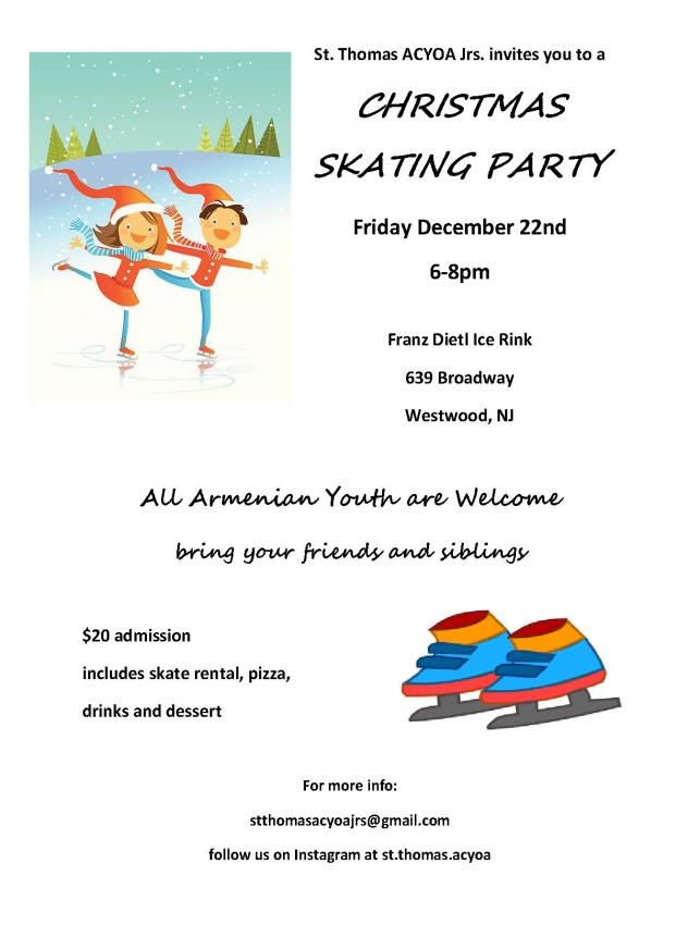 St.Thomas ACYOA Ice Skating Party