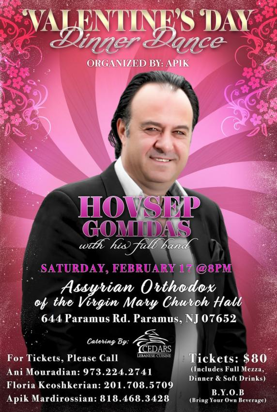 Valentine's Day Dinner Dance Featuring Hovsep Gomidas
