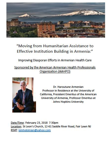 Moving from Humanitarian Assistance to Effective Institution Building in Armenia