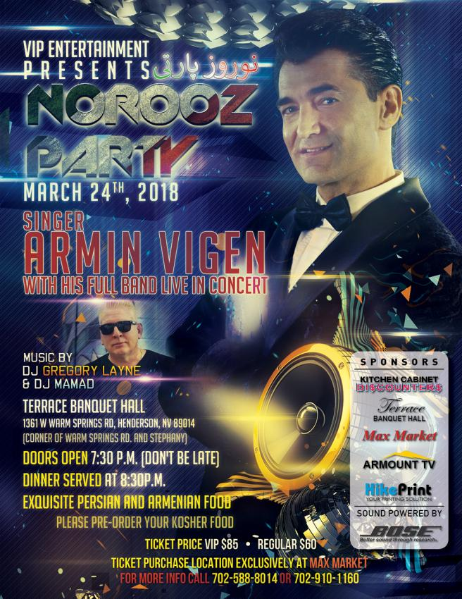 Persian New Year in Las Vegas with Armin Vigen