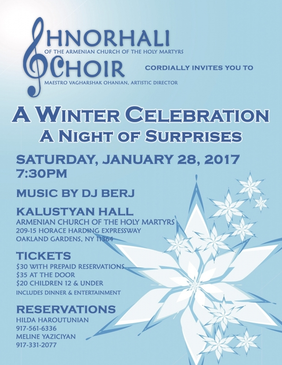 Shnorhali Choir Winter Celebration
