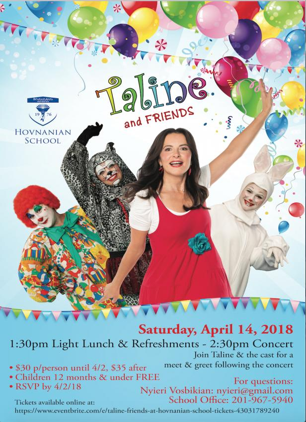 Hovnanian School Hosts Taline & Friends