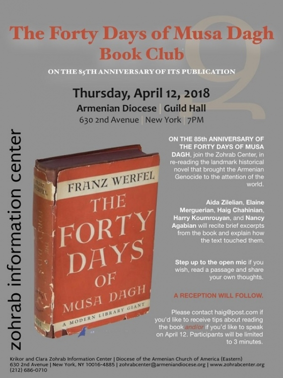The Forty Days of Musa Dagh Book Club