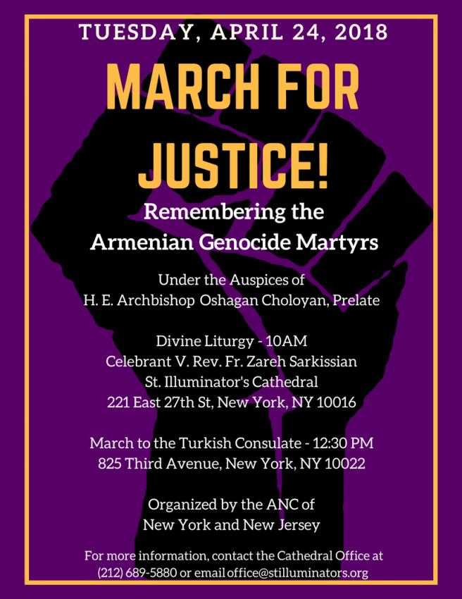 March For Justice - Remembering the Armenian Genocide Martyrs