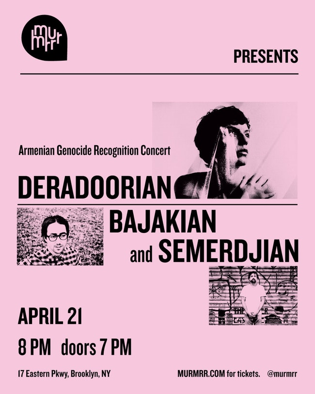 Deradoorian, Bajakian & Semerdjian: An Evening of Poetry and New Music