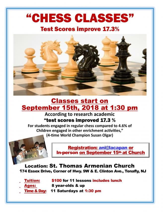 Chess Classes for Children at St. Thomas