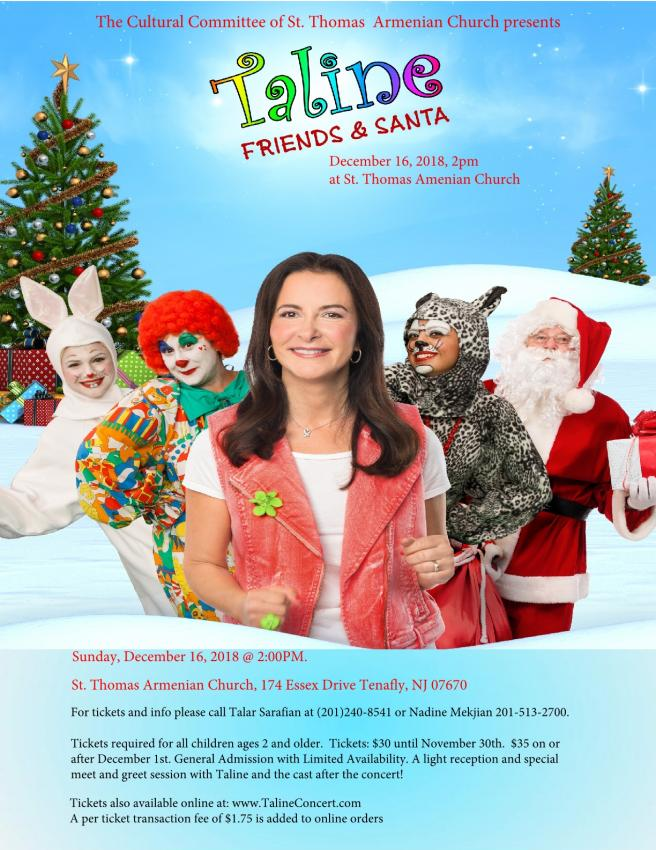 Taline and Friends and Santa Christmas Concert