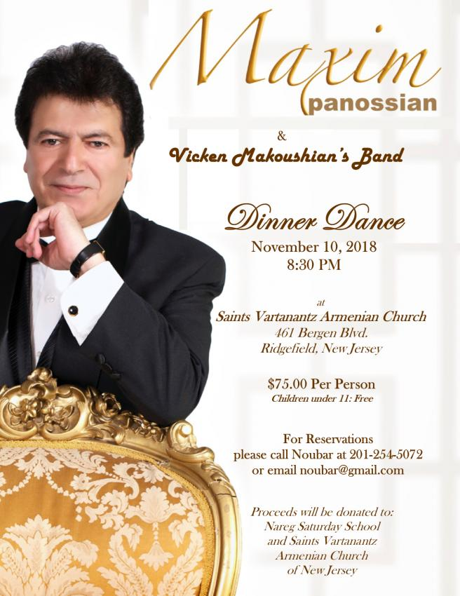 Maxim Panossian: The Most Anticipated Dinner Dance Event of the Year!
