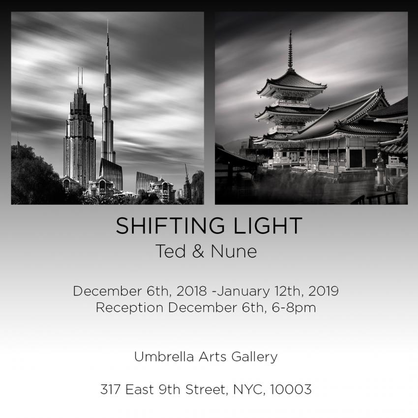 "Ted & Nune Photography Exhibition ""Shifting Light,"" East Village, NYC"