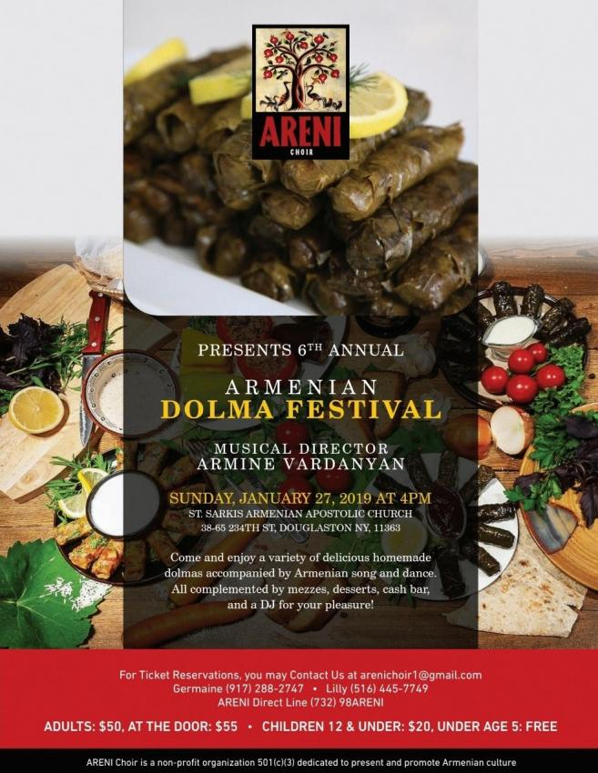Areni Choir is Excited to Host their 6th Annual Dolma Festival!