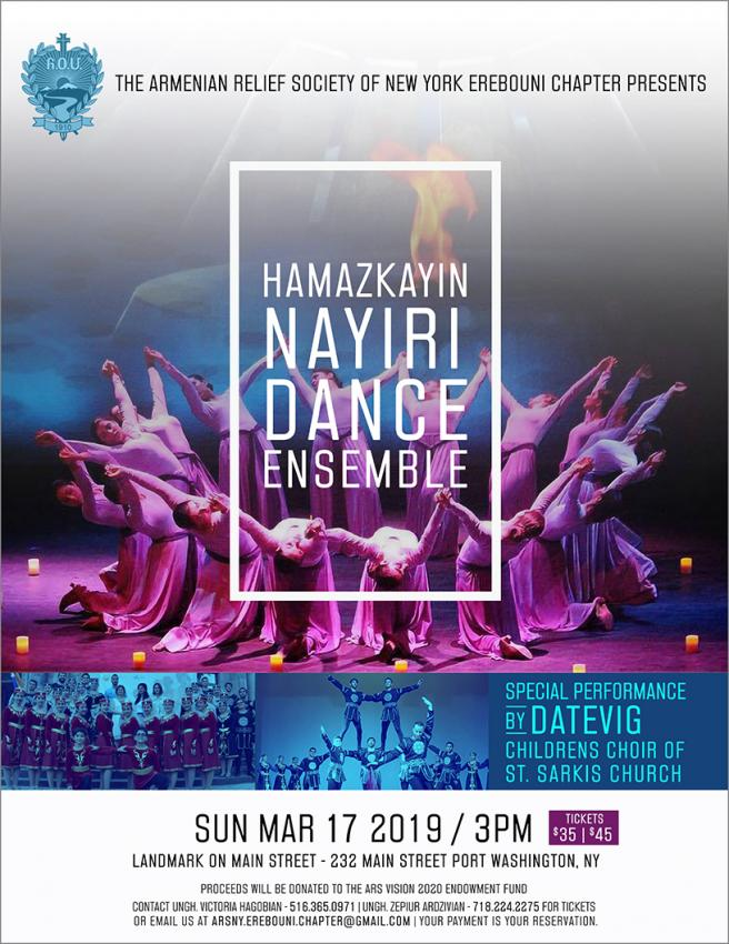 ARS NY Erebouni Chapter Presents - Hamazkayin Nayiri Dance Ensemble
