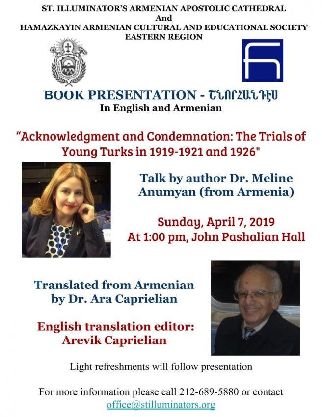 Book Talk: Acknowledgment & Condemnation: The Trials of the Young Turks