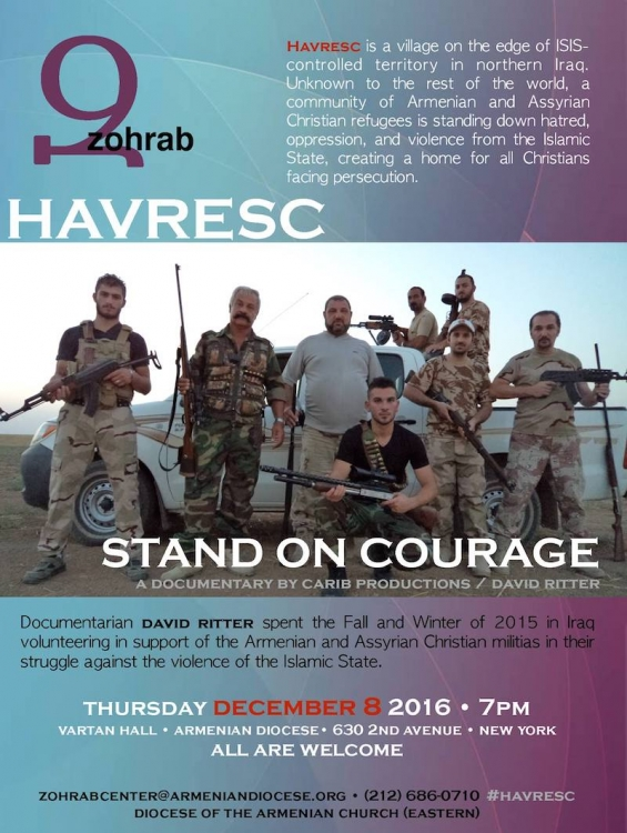 "Documentary film ""Havresc: Stand On Courage"" (Dec. 8)"