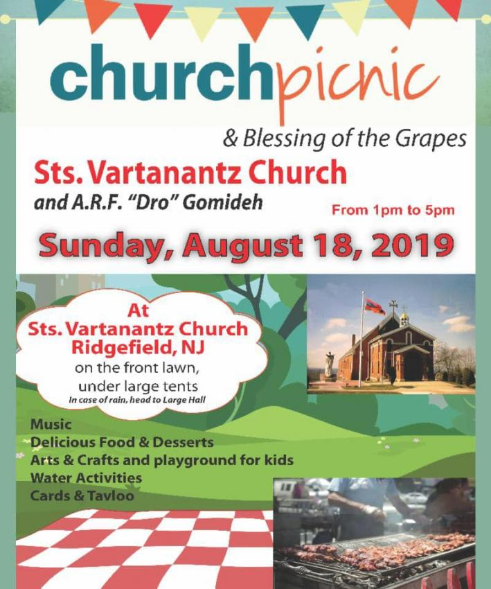 Sts. Vartanantz Church Annual Picnic & Blessing of the Grapes
