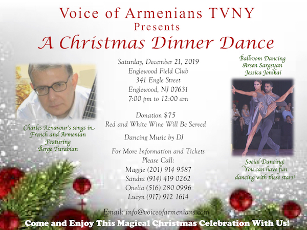 Voice of Armenians TVNY Presents A Christmas Dinner Dance.